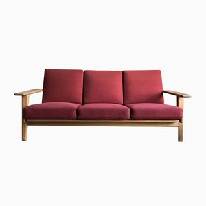 GE-290-3 Three Seater Oak Sofa by Hans J. Wegner for Getama, 1960s