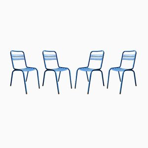 Französische Mid-Century Stühle von Xavier Pauchard für Tolix, 4er Set