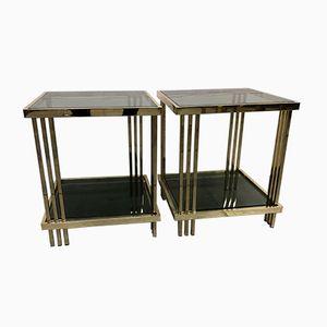 Vintage Brass Side Tables, 1980s, Set of 2