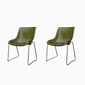 Vintage Perspex Chairs, 1970s, Set of 2