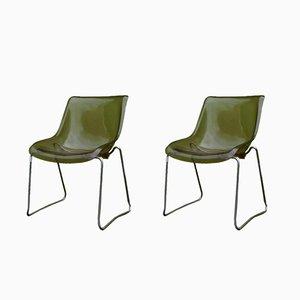 Vintage Stühle aus Plexiglas, 1970er, 2er Set