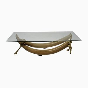 Grande Table Basse Vintage en Faux Brosme par S. T. Valenti