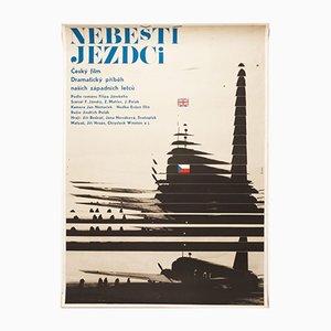 Tschechoslowakisches Mid-Century Filmposter von Milan Grygar, 1968