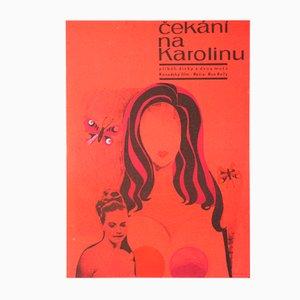Affiche de Film Waiting for Caroline Vintage par Olga Stárková, Tchéquie, 1968