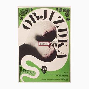 Vintage Detour Filmposter von Zdeněk Ziegler, 1967