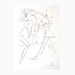 The Pass of Gadalore Etching by Salvador Dali, 1975