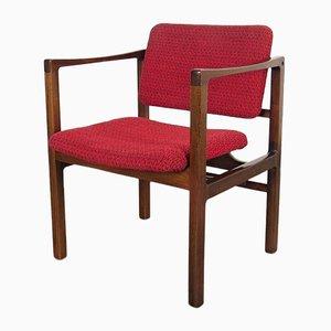 Roter Vintage Beistellstuhl