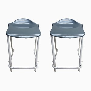 Tubular Steel Stools, 1980s, Set of 2