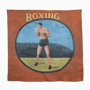Vintage Funfair Boxing Poster, 1940s