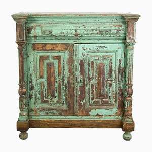 Antique French Green Cabinet