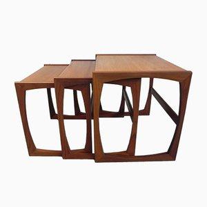 Tavolini ad incastro in teak di Victor Wilkins per G-Plan, anni '60
