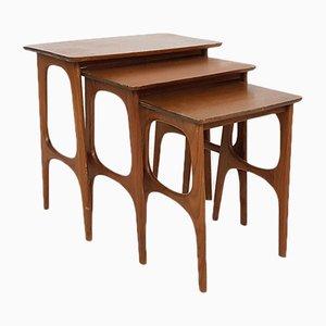 Tables Gigognes Modernes Scandinaves en Teck, 1960s