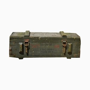 Vintage Wooden Ammunition Box, 1970s