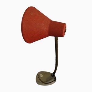 Lámpara de mesa roja, años 50