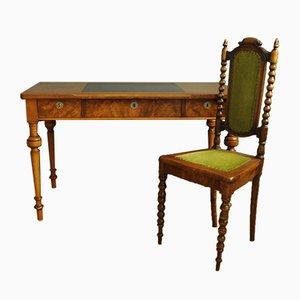 Art Deco Schreibtisch & Stuhl, 1920er