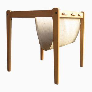 Tavolino con portariviste in tessuto, Danimarca, anni '60