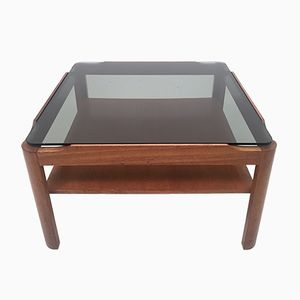 Mid-Century Smoked Glass Coffee Table from Myer