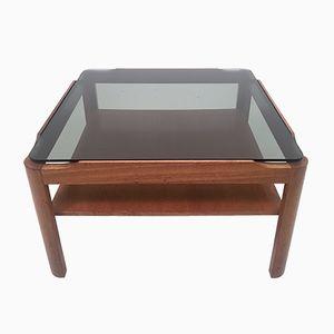 Tavolino da caffè Mid-Century in vetro fumé di Myer