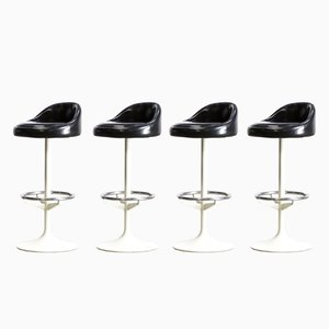 Metal, Chrome & Skai Barstools, 1970s, Set of 4