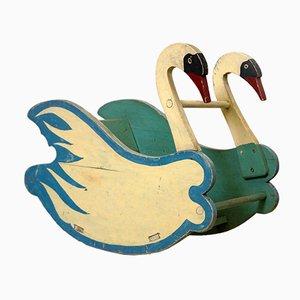 Rocking Chair Cygne Biedermeier Antique