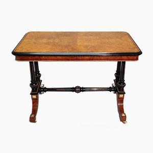 Tavolino vittoriano in amboina ed ebanizzato di Gillows, metà XIX secolo
