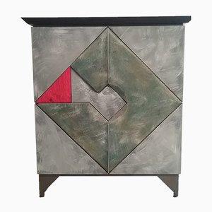 Doppelseitiger Schrank in abstrakter Form von Martin Nijman, 1989