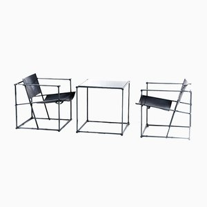 FM61 Cubic Chairs & Table by Radboud van Beekum for Pastoe, 1980s