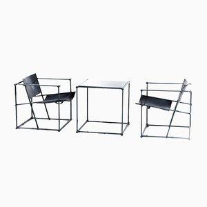 Würfelförmige FM61 Stühle & Tisch von Radboud van Beekum für Pastoe, 1980er