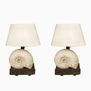 Lámparas de mesa francesas de Jean-Charles Moreux, años 40. Juego de 2