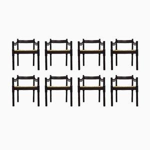 Carimate Stühle von Vico Magistretti für Cassina, 1960er, 8er Set