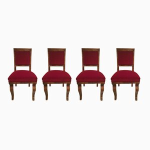 Art Deco Hungarian Chairs, 1920s, Set of 4