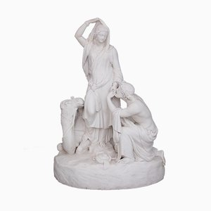 19th Century Parian Isaac and Rebekah Sculpture from William Beattie