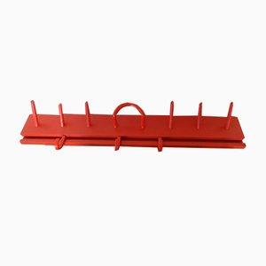Perchero de pared rojo de Kartell, años 60