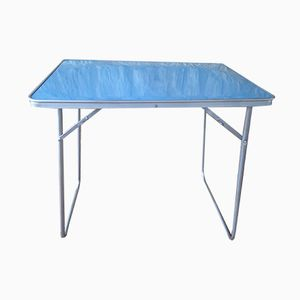 Vintage Blue Formica Folding Table