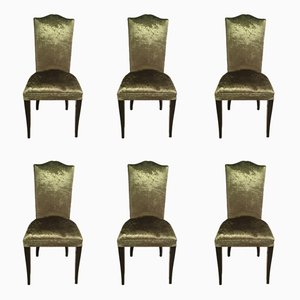 Art Deco Dining Chairs, 1940s, Set of 6