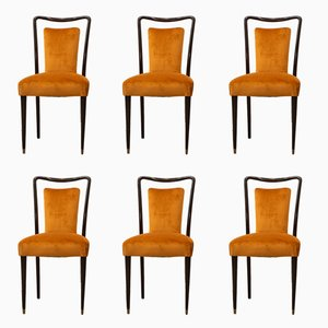 Italian Chairs by Melchiorre Bega, 1960s, Set of 6