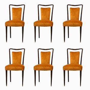 Italienische Stühle von Melchiorre Bega, 1960er, 6er Set