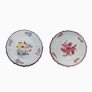 Italian Decorative Plates, 1950s, Set of 2