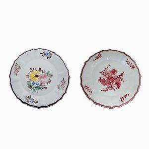 Italian Decorative Plates, 1950s, Set of 2
