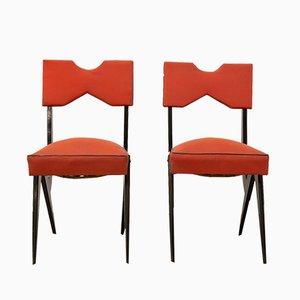 Französische Mid-Century Stühle, 1950er, 2er Set