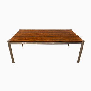 Mid-Century Steel & Rosewood Table, 1960s