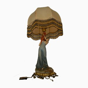 Porcellain Table Lamp from Flavia Porcellane, 1950s