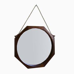 Espejo de pared italiano octogonal, años 60