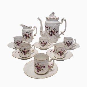 19th-Century Porcelain Coffee Service from Aux Lions de Faïence