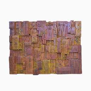 Vintage Brutalist Wall Sculpture from Evans