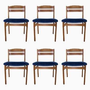 Mid-Century Esszimmerstühle aus Teak von Boltinge Stole, 6er Set