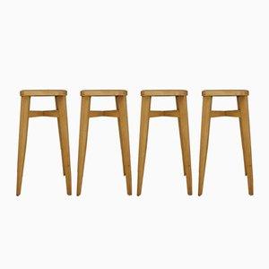 Taburetes de bar Mid-Century de teca de Ben Chairs. Juego de 4