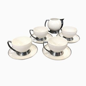 Art Deco Italian Tea Set by Guido Andlovitz for Laveno, 1930s, Set of 4