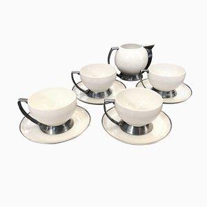 Servicio de té italiano Art Déco de Guido Andlovitz para Laveno, años 30. Juego de 4