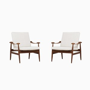 FD-133 Spade Chairs by Finn Juhl for France & Son, 1954, Set of 2